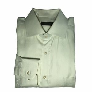 CORNELIANI Green Oxford Dress Shirt